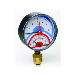 Emmeti Temperature & Pressure Gauge with Check Valve Radial Connection 00602012