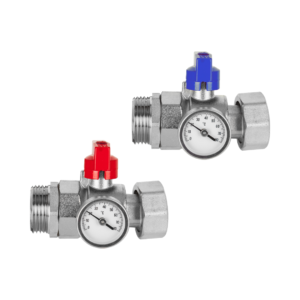 Polypipe Isolation Valves with Temperature Gauge